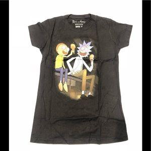 🥒 Rick and Morty ice cream black T-shirt New